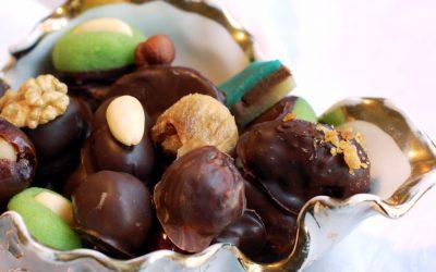 Marcipankonfekt med chokoladeovertræk