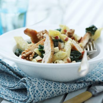 Landmads kylling workstrimler med cremet gorgonzola