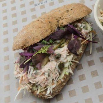 Landmads sandwich med fisk