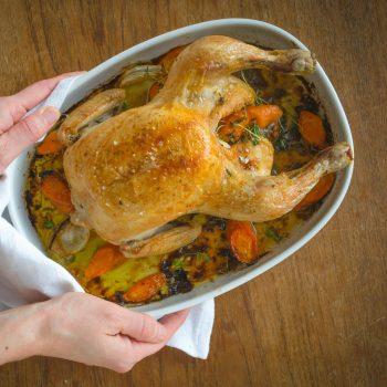 Landmads kylling med fyld