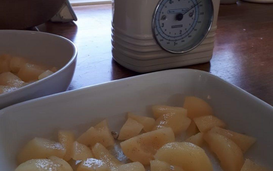 Landmads pære crumble tærte