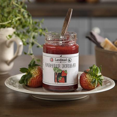 Jordbær rabarber marmelade