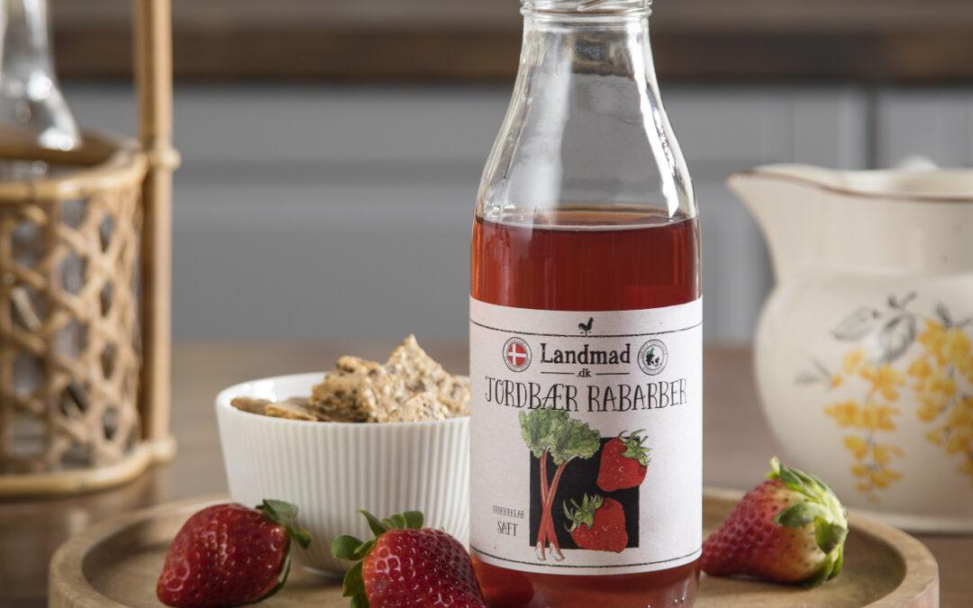 Jordbær rabarbersaft